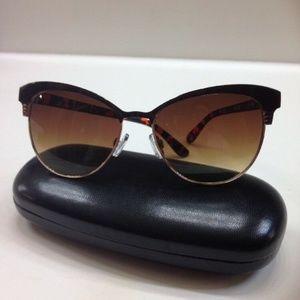 Tahari Cats Eye  Sunglasses Frames Brown Tortoise